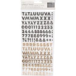 Heritage Alpha Thickers Stickers 312/Pkg - 2