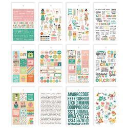 Hey, Crafty Girl Mini Sticker Tablet 375/Pkg - 2