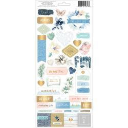"Indigo & Ivy Cardstock Stickers Accents & Phrases W/Gold Foil Accents 5.5""X12"" 2/Pkg - 2"