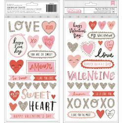 La La Love My Sweet Phrase/Icons/Foam/Cardstock Thickers Stickers 61/Pkg - 2