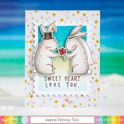 """Love You Bunnies Clear Stamps 4""""X6"""" - 2"""