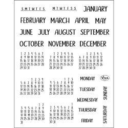 Months & Days Clear Stamp Set - 2