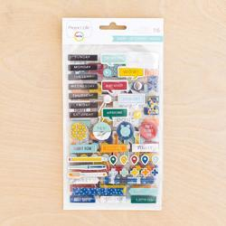 Sharp Project Life Chipboard Stickers - 2
