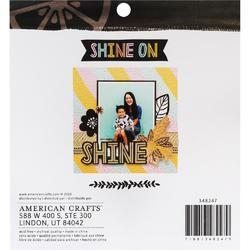 "Shine On Single-Sided Paper Pad 6""X6"" 24/Pkg - 2"