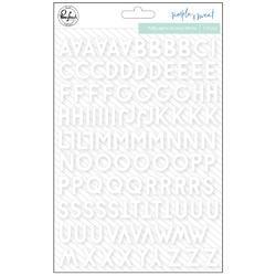 "Simple & Sweet Puffy Stickers 5""X7"" Mini White - 2"