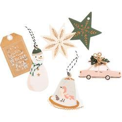 Snowflake Layered Tags 12/Pkg - 2