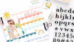 Studio Calico Stamp Set 6x8 Sophia Alpha - 2