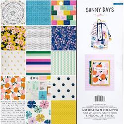 "Sunny Days Single-Sided Paper Pad 12""X12"" 36/Pkg - 2"