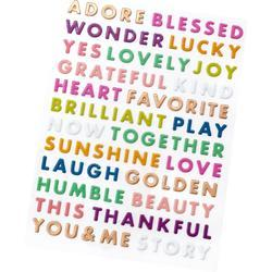 Truly Grateful Puffy Word Stickers 142/Pkg - 2