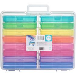 """We R Craft & Photo Translucent Plastic Storage 15""""X12""""X5"""", w/16 Mini Cases - 2"""