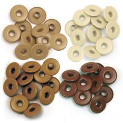 We R Eyelets Wide 40/Pkg Brown - 2