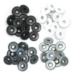 We R Eyelets Wide 40/Pkg Grey - 2
