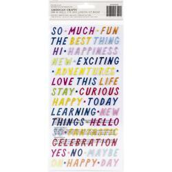 Wonders Happy Day Phrases Thickers Stickers 329/Pkg - 2