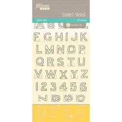 Alpha Ruler Stamp & Stencil Set 4'x6' - 2