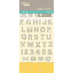 Alpha Ruler Stamp & Stencil Set 4'x6' - 2