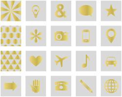 "Amelia Transparent w/Gold Foil Cards 4""x4"" 20pkg - 2"