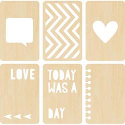 Cut & Paste - Wood Veneer Cards - Stacked - Amy Tan - 2
