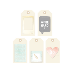 Stitched Layered Tags 5 pkg - 2