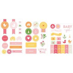Baby Girl Project Life Chipboard Stickers - 2