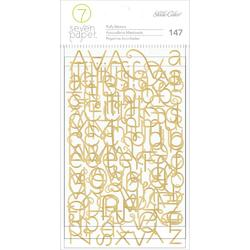 Baxter Gold Alpha Foiled Puffy Stickers - 2