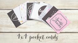 "Bella Rouge Journaling Cards 4""x4"" 18 pkg - 2"