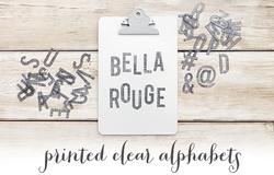 Bella Rouge Printed Transparent Alphabet 107 pkg - 2