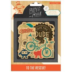 Boys Rule Printed Wood Veneer Shapes 15 pkg - 2