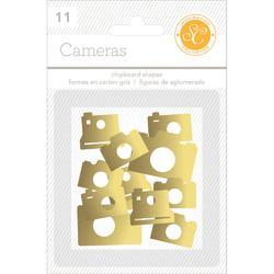 Cameras Gold  Chipboard Shapes 11 pkg - 2