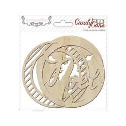 Candy Cane Lane Ornaments Laser-Cut Wooden Shapes 6 pkg - 2