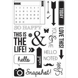 Captured Moments Calendar Clear Stamps - 2