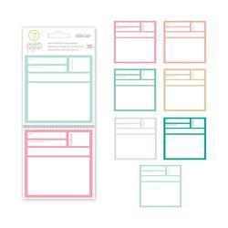 """Clara Journaling Cards 4""""x4"""" - 2"""