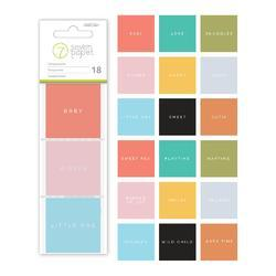 """Clara Words & Phrases Transparency Squares 2""""x2"""" - 2"""