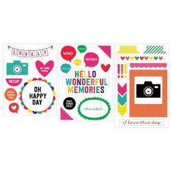 Confetti Project Life Chipboard Stickers - 2