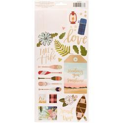 """Creekside Cardstock Accents & Phrases Stickers 5.5""""X12"""" 2/Pkg - 2"""