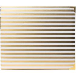 "Desktop Gold Stripes Glossy D-Ring Album 12""x12"" - 2"