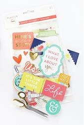 Desktop Project Life Chipboard Stickers - 2