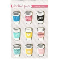 Drink Cups Puffy Stickers - 2