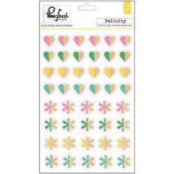 Felicity Color Block Wood Veneer Stickers - 2