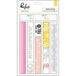 """Felicity Washi Tape Stickers 4""""x6"""" 3 sheets - 2"""