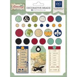 Getaway Decorative Brads - 2