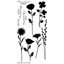"""Grand Peaceful Wildflowers Stamps 4""""x8"""" - 2"""