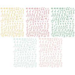 Happy Things Mini Alphabet Stickers - 2