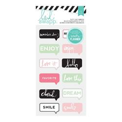 Hello Beautiful Chat Bubbles Puffy Stickers - 2