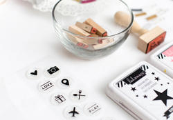 Hello Beautiful Circle Icons Acrylic Stamps - 2