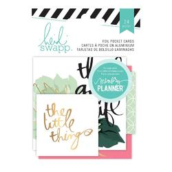 Hello Beautiful Foil Pocket Cards Embellishments - 2