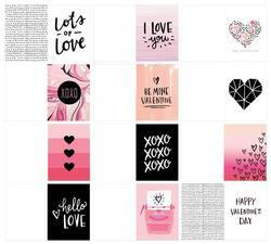 "Hello Love Minc 3""x4"" Card Set 12 pkg - 2"
