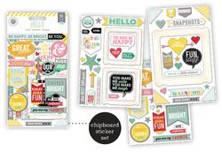 Hello Sunshine Chipboard Stickers Flip Pack 3 sheets - 2