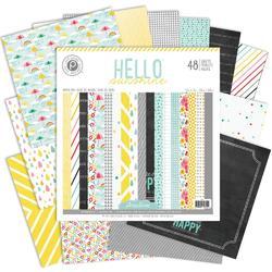 "Hello Sunshine Paper Pad 12'x12"" 48 pkg - 2"