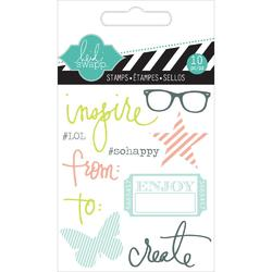 Inspire Mixed Media Clear Mini Stamps - 2