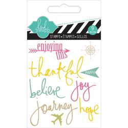 Journey Mixed Media Clear Mini Stamps - 2